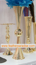 French Gold 29 inches Polished Metal Reversible Vases 1 PC