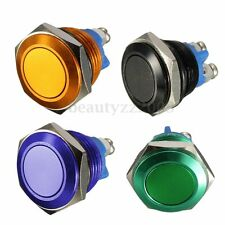 16mm Switch Momentary Interruttore OFF-(ON) Pushbutton Pulsante Car Boat SPST
