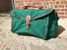 Polo Ralph Lauren Fragrence Green Canvas Zip Duffel Shoulder Bag