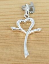 Anhänger Schmuck  925 Silber - Kreuz - Herz