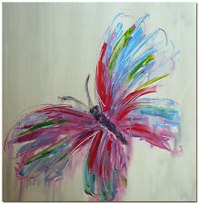 Abstract Butterfly Art - Hand Painted Palette Knife Oil Painting On Canvas
