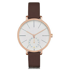 NEW SKAGEN WATCH for Women * Hagen White Dial * Brown Leather SKW2356 MSRP $165
