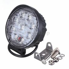 27W LED Round Work Light Bar Flood Lamp For Car 4WD Truck ATV Offroad 4x4 SUV