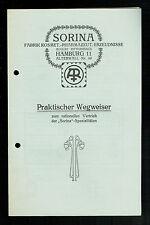 """5 lettere e opuscoli sui """"Sorina"""" prodotti, Amburgo 1920"""