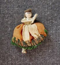 VINTAGE HAND CRAFTED MINIATURE DOLL      1 3/4 inches tall