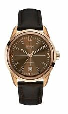 Bulova Accutron Men's 64B124 Accu Swiss Murren Automatic Brown Leather Watch