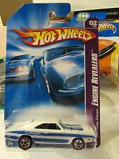 Hot Wheels 1969 Dodge Charger Engine Realers White