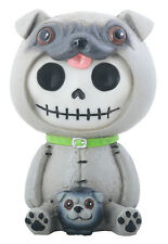 Furry Bones PUGSLY the Pug Figurine, Skeleton in Costume, NIB