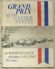 UNITED STATES GRAND PRIX FORMULA ONE F1 1965 WATKINS GLEN Official Programme