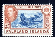 FALKLANDS 1942 S.G. 161 COLOR APPEARS TO BE DARK BLUE & YELLOW,BROWN SEE SCANS