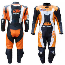 Top Quality KTM Motorbike Leather Suit Pure Cowhide Leather CE Approved Armours
