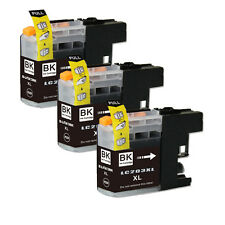 3 PK Black Replacement Ink for Brother LC203 LC201 MFC J460DW J480DW J485DW