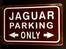 Jaguar Parking Only Metal Sign / Vintage Garage Wall Decor (30 x 20cm)