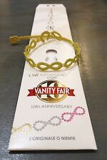 NEW! Authentic Cruciani Vanity Fair Lurex Infinity Bracelet - Canary Yellow