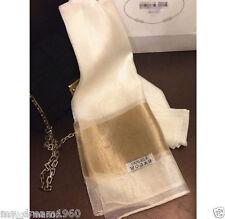 White Thai Pure 100% Silk Scarf Shawl Wrap Large Handmade Woven  70X25''