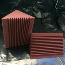 Acoustic Foam Corner Bass Trap for Recording Studio Burgundy in 8 piece