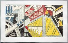 Roy Lichtenstein 1923-1997: study for preparedness farboffsetlitho firmato a mano