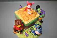LARGE WINNIE THE POOH AND FRIENDS CERAMIC HALLOWEEN COOKIE JAR MUSIC