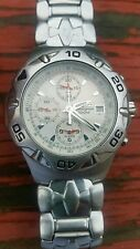 Seiko quartz chronograph 7T62-0CFO st steel Men's wristwatch
