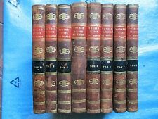 RELATION DES VOYAGES de BYRON, CARTERET, WALLIS, COOK, 1789. 8 volumes.