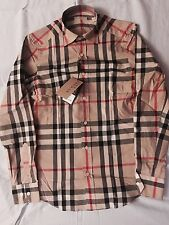 Burberry Brit Men's Long Sleeve Shirt Casual Camel SIZE M