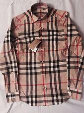 Burberry Brit Camel Check Casual Men's Shirt Size L