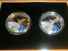 (2) 2012 Cook Islands SPACE SHUTTLE coins! Only 30 made! Gold & Silver coin set