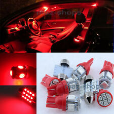 12V Red Interior LED Light Bulbs Lamp Package 9PCS Kit Fit Kia Optima 2011-2014