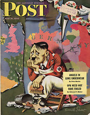 1943 Saturday Evening Post July 31-Hitler; Africa Army Nurses; Phil. Waterfront