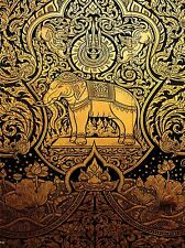 ART PRINT POSTER PAINTING DRAWING ORNATE ABSTRACT THAILAND ELEPHANT LFMP0648