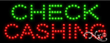 "NEW ""CHECK CASHING"" 20x8 SOLID/ANIMATED LED SIGN W/CUSTOM OPTIONS 22331"