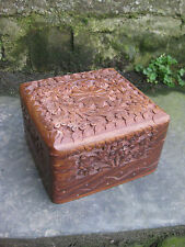 Kashmiri Style Hand Made Carved Wooden Trinket Box