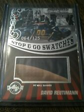 2009 PP David Reutimann Stop & Go Swatches RACE-USED Pit Wall Banner Relic /125