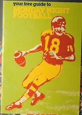 1980 Your Free Guide To Monday Night Football-Gifford Cosell Meredith Tarkenton