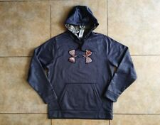 Under Armour Loose Fit, All Season Gear, Water Resistant Dark Gray Hoodie, 2XL
