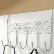 White Over The Door Home Bathroom Hat Coat Towel Hanger Holder Rack 5 Hooks
