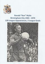 RON WYLIE BIRMINGHAM CITY 1965-1970 ORIGINAL HAND SIGNED MAGAZINE CUTTING