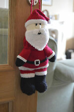 KNITTING PATTERN Santa Christmas Baggles Gift Bag from Knitting by Post