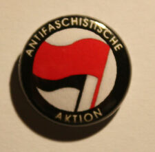 Antifaschistische Aktion Button / Badge Punk Antifa Pin Gegen Nazis NO RACISM