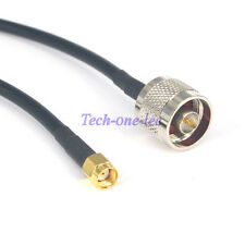 3Ft N Male Plug to RP-SMA Male Cable Pigtail crimp Antenna Extension Jumper 1M