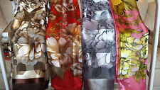 Joblot 24 pcs Faux silk scarf Scarves Floral design wholesale 100x100 cm Lot O