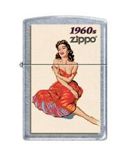 Zippo 207 1960's Pinup Girl Noseart Full Size Lighter