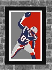 New England Patriots Rob Gronkowski Portrait Sports Print Art 11x17
