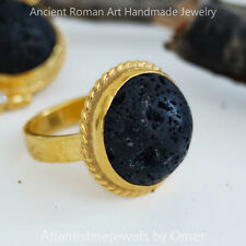 LAVA RING 925 STERLING SILVER 24K  GOLD VERMEIL TURKISH FINE JEWELRY BY OMER