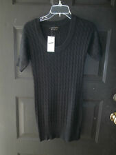 NEW NWT BCBG MAXAZRIA DRESS Angora Wool Cable Knit Sweater BLACK SMALL $160