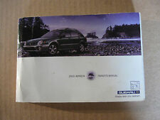 2003 Subaru Impreza WRX Interior Owners Manual