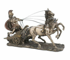 Roman Chariot Statue Sculpture Bronze Finish Figurine