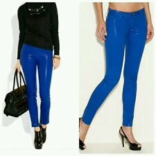 �� GUESS  POWER SKINNY BLUE COATED JEANS ��