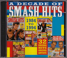 A Decade Of Smash Hits - Various Artists 1984-1994 - CD - (2CD) (CBS 477767 2)