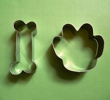 Dog paw bone baking pastry biscuit fondant stainless steel cookie cutter set